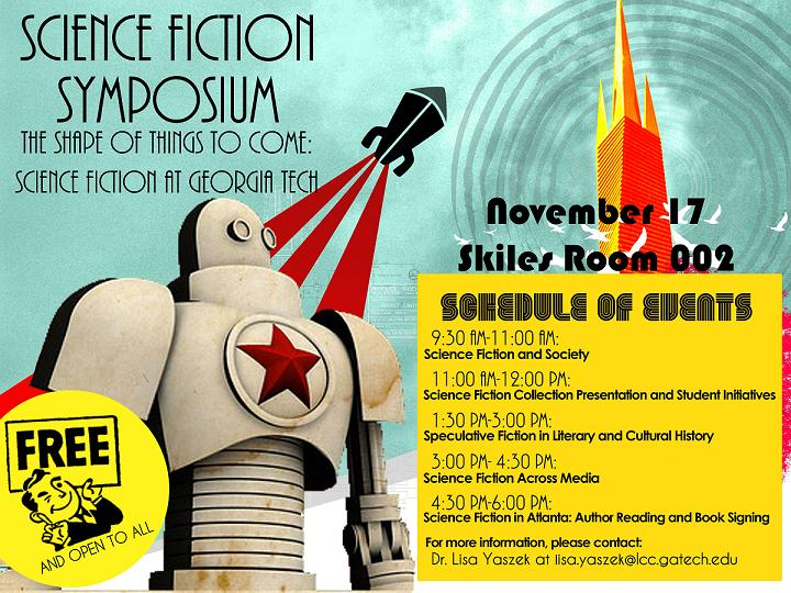 Science Fiction at Georgia Tech Symposium Poster